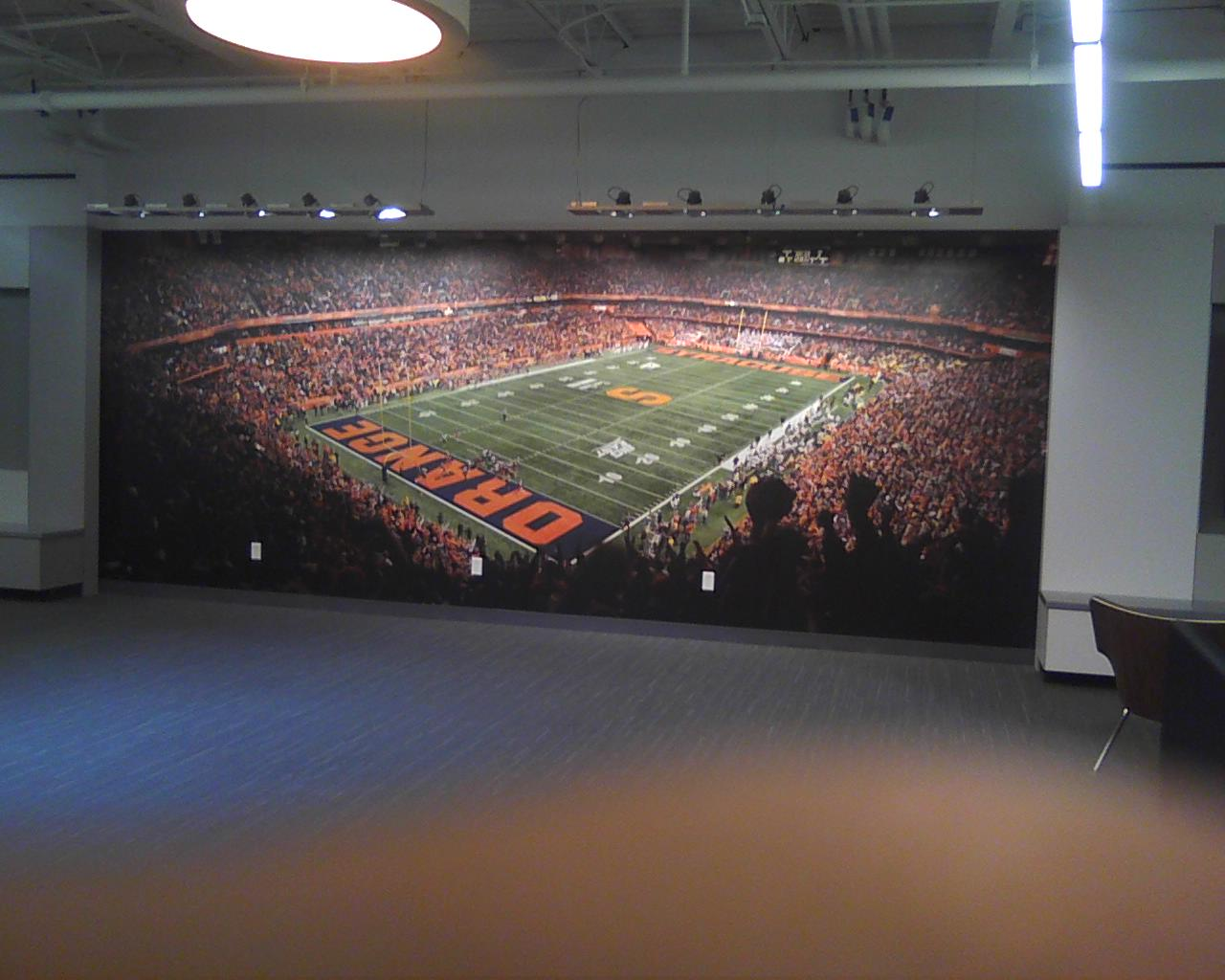 stadium wall graphic