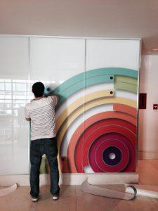 full size render indoor installation