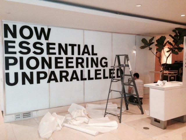 indoor wall graphic installation