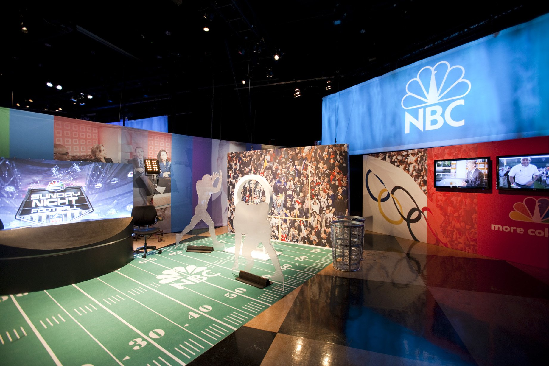 nbc custom sports and media installation