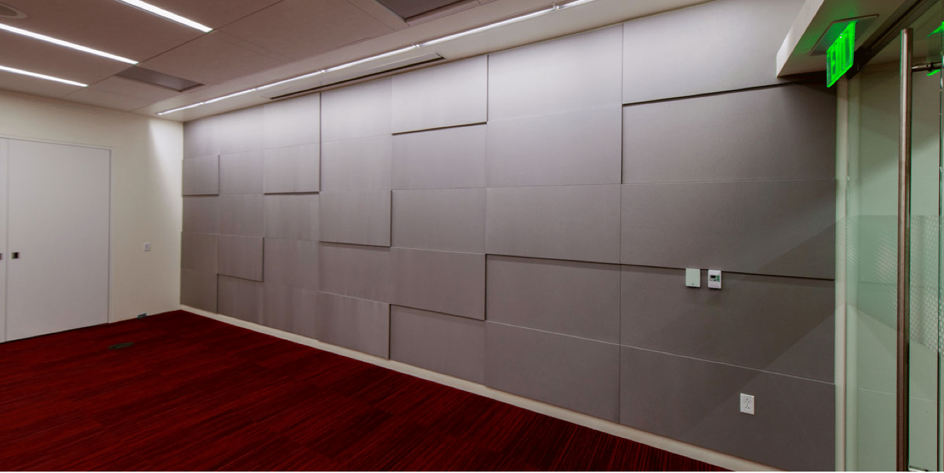 textured wall installation
