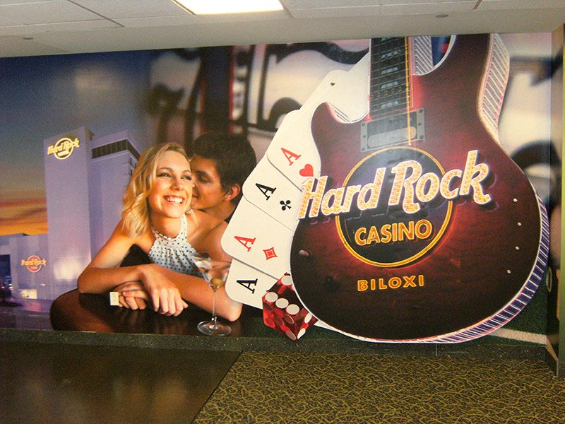 hard rock casino custom wall graphics