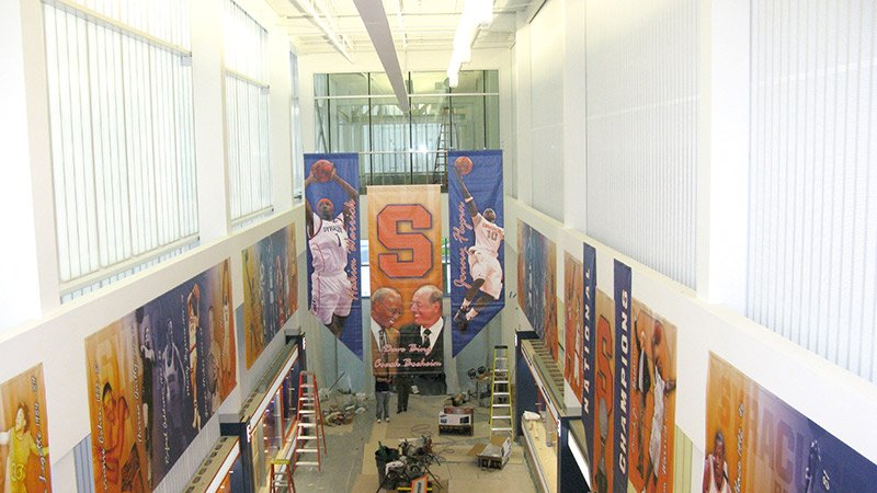 colorful sports banners