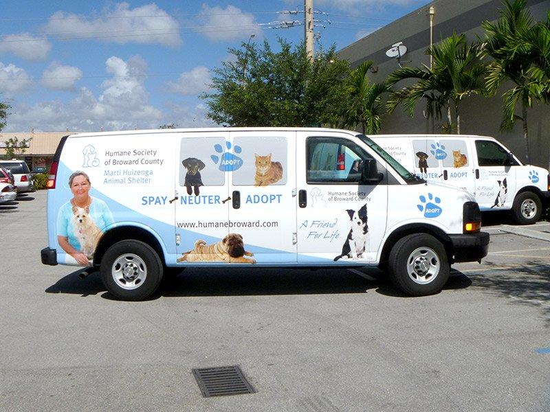 custom vehicle wrap for company