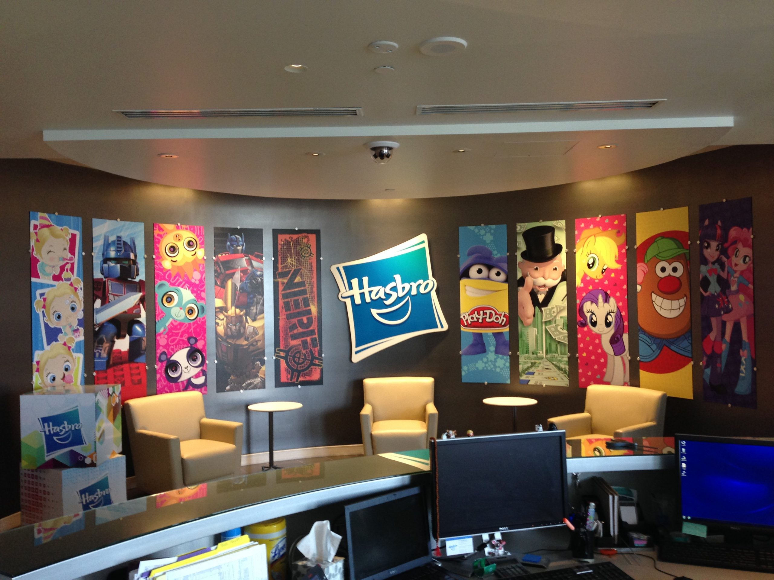 colorful hasbro wall graphics
