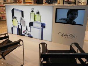 illuminated display with TV